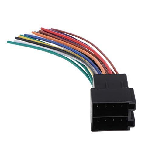 MagiDeal Radio Estéreo para Automóvil con Conector de Cable Adaptador de Extremo Desnudo ISO Macho para Beetle