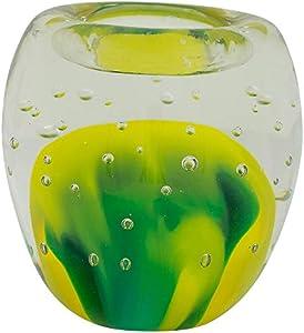 Portavelas de Cristal candelero Vidrio Estilo Antiguo Murano 9cm (b)