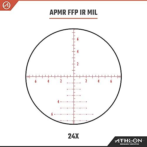 Athlon Optics Argos BTR GEN2 6-24x50 Riflescope - APMR FFP IR MIL, Black