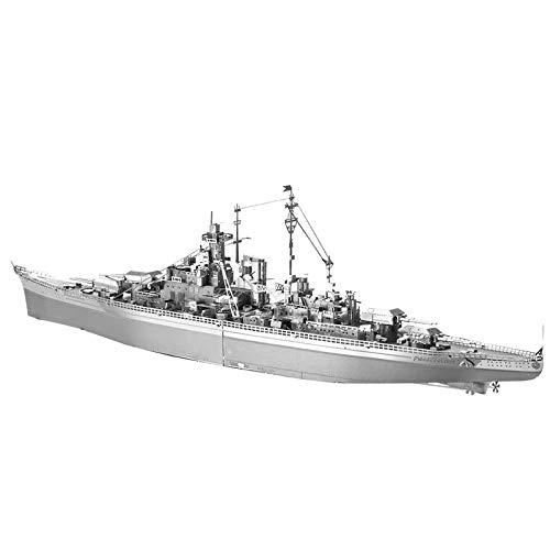 Metal 3D Puzzle, Modelo 3D De Ensamblar Maqueta Metal 3D, Bismarck Battleship DIY Monta Kits De Edificio Modelo Laser Cut Jigsaw Toy, 207 Pcs
