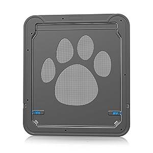 """PETLESO Dog Door Screen – Pet Door for Screen Dog Door Lockable for Small to Large Pets – Inner 12""""×13.5"""" Black"""