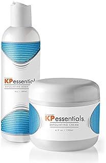 KP Essentials - Set de crema exfoliante y exfoliante corporal Queratosis Pilaris - 10oz