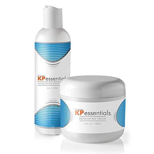 KP Essentials - Keratosis Pilaris Körperpeeling und Peeling Creme-Set - 296 ml Peeling-Set