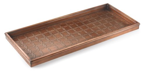 Good Directions Circles Multi-Purpose Boot Tray / Shoe Tray - Copper Finish (34 inch) - Plants, Pet Bowl, Garage, Entryway, Entrance, Foyer