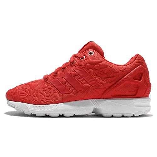 adidas Originals ZX Flux Damen Sneakers, Rot (Vivid Red/Vivid Red/Core Black), 39 1/3 EU