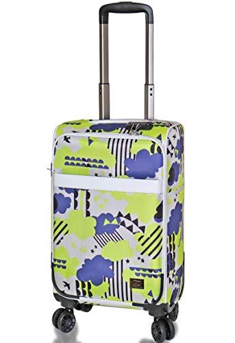 (キウ) kiu スーツケース TSAロック ソフトキャリーケース Mサイズ 20インチ Sサイズ 18インチ スーツケース 軽量 機内持ち込み 旅行 出張 (M 20インチ, ウェザーオフ)