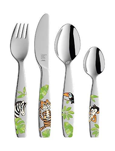 Zwilling Kinderbesteck Jungle 4 tlg. (Edelstahl 18/10, poliert)