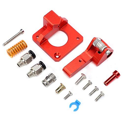 LANTRO JS - Upgraded CR-10S double slide red extruder high stability extrusion 1.75 consumables,Aluminum alloy Extruder Kit,3d printer accessories