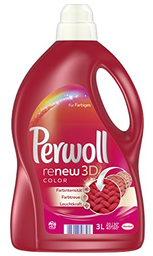 Perwoll renew 3D color, Waschmittel, 80 WL, 2er Pack (2 x 40 WL)