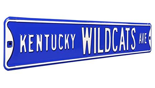 Kentucky Wildcats Ave, Heavy Duty, Metal Street Sign Wall Decor
