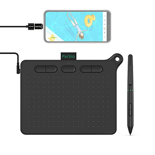 Drawing Tablet OSU! Parblo Ninos S Digital Graphics Tablet 6 x 4 Inch with 8192 Pressure on Mac Win Android Device for Digital Drawing, Distance Education Web Conference (Black)