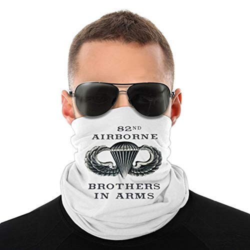 SPACEMASKS Bandanas 18th Airborne Corps - Máscara de paracaídas con alas de salto para polvo, al aire libre, festivales, deportes, color blanco