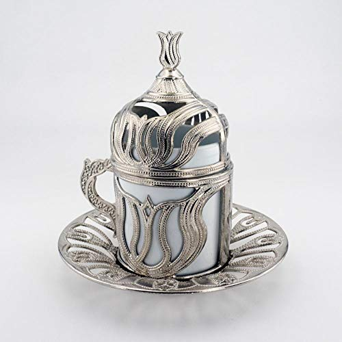 Espresso tazas Taza de cobre turco taza de café espresso con creador Anatolian Otomano Griego Diseño de tulipán hecho en Turquía Regalo tazas cafe (Color : Cups Model2 1 Pieces)