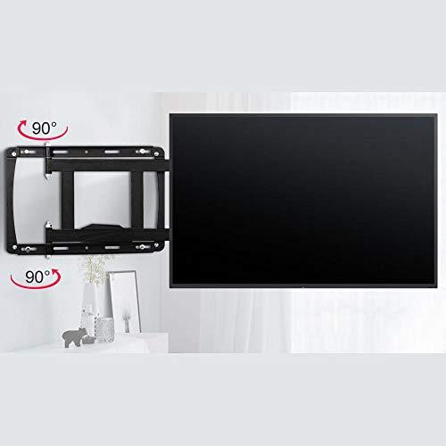 CHOUE Rostfreier Stahl Monitor Ständer für 32-75 Zoll Bildschirme,TV Deckenhalterung Elektrisch Klappbar bis 75KG, Schwenkbar, Neigbar, Ausziehbar, Universal, Max VESA 600x400mm