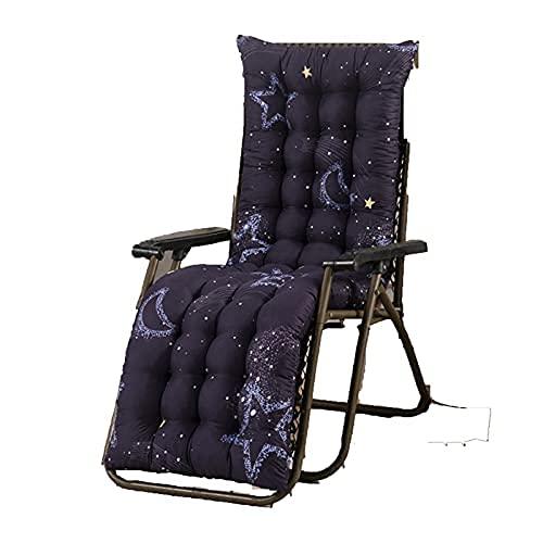 ZBBN Cojín para Tumbona Cojín para sillón Cojín para sillón de Terciopelo Espesar Armchair Asiento Cojín Silla de Oficina Colchón Cojín de Masaje (Color: Blue Moon, Especificación: 48x170cm)