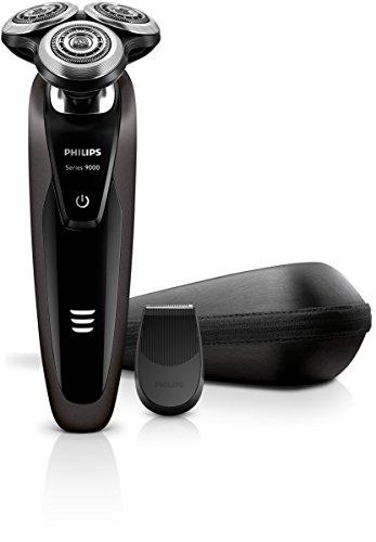 Philips S9031/13 Rasoir électrique Series 9000 + tondeuse de précision + housse de transport