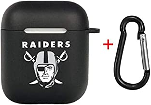 Zhang Fu Li NFL-American Football Collection - AirPods Soft TPU Case Shockproof Protective Case Cover Compatible with Apple AirPods & AirPods 2019 (Oakland Raiders)