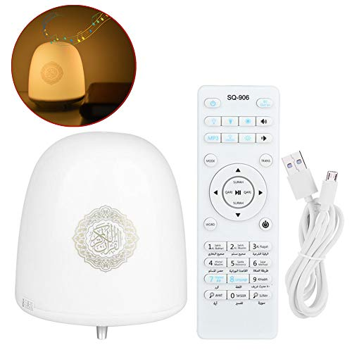 Coran Touch Lamp Player, Coran luidspreker, LED-lamp, Smart Touch Wireless Coran Touch Lamp Player met afstandsbediening en 7 kleuren LED-tafellamp geschenken voor vrouwen mannen kinderen slaapkamer