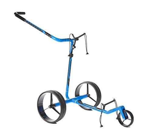 New JuCad Carbon Travel Push Cart – Blue/Black (Electric)
