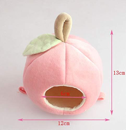Carry stone Hamster House Apfelförmige Kleidung Schlafsack Kalte Maßnahmen Kleintiere Heimtierbedarf 1 für den Winter (Pink)