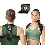 FITNESIX® Geradehalter zur Haltungskorrektur - DESIGNPATENT 2021 - Rückenstütze für Damen & Herren mit bodydynamischen elastischen Bändern