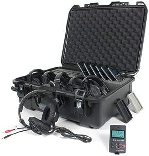 Williams Sound DWS COM 6 PRO 300 Digi-Wave Wireless Intercom System, Includes DLT 300 Transceivers, MIC 058 Microphones, CCS 042 Case, CCS 044 GR/BK Silicone Skins