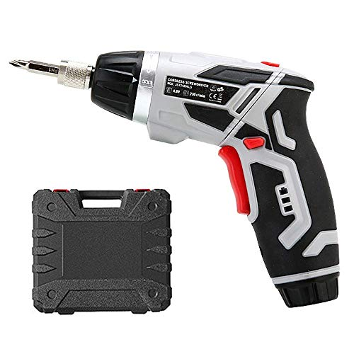 Beautiful happy Electric Screwdriver, Cordless Screwdriver Tool, 4.0V Cordless Drill Driver, 4Nm, Rotated 90 Degrees, with Rechargeable Battery & 2 LED Light (Color : -, Size : -)