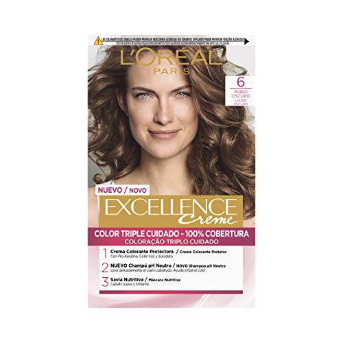 L'Oral Paris Excellence Coloracin Excellence Crme Triple Proteccin 6 Rubio...