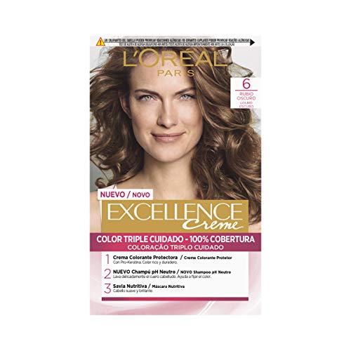 L'Oréal Paris Excellence Coloración Excellence Crème Triple Protección 6 Rubio Oscuro