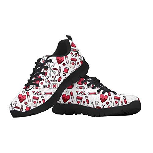 chaqlin Damen Running Sneakers Schuhe Outdoor Running Gym Fitness Sport Sneakers Krankenschwester Bär Sneakers 39 EU