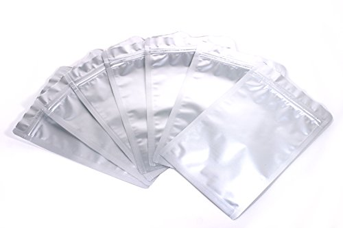 Mylar Bags Ziplock Long Term Food Storage Silver 5x8 Inch 100pcs DS M&T