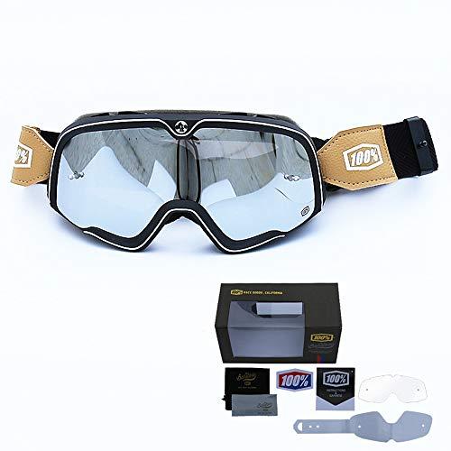 YY-Motorcycle goggles Motocross Brille Motorradbrille TPU Harz Winddicht UV Schutz Dirt Bike Brille Snowboard Ski Brillen Off Road Brille