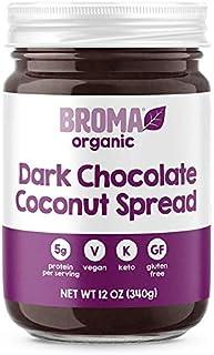Broma Dark Chocolate Coconut Spread (One 12 oz Jar) | Gluten Free | Organic | Non-GMO | Keto Friendly & High in Protein