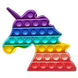 ClickAndBuy Unicornio Popit Fidget Toy juguete sensorial antiestres de explotar burbujas de silicona...