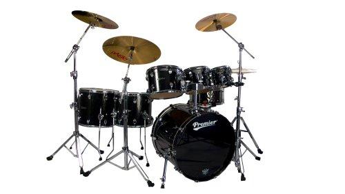 Premier Series Elite H289962QBSX Schlagzeug-Set, Schwarz, 6-teilig