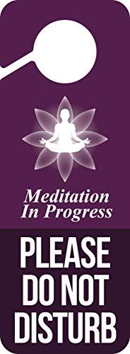 Baby Marley Meditation Door Hanger   Do Not Disturb Sign (Purple)