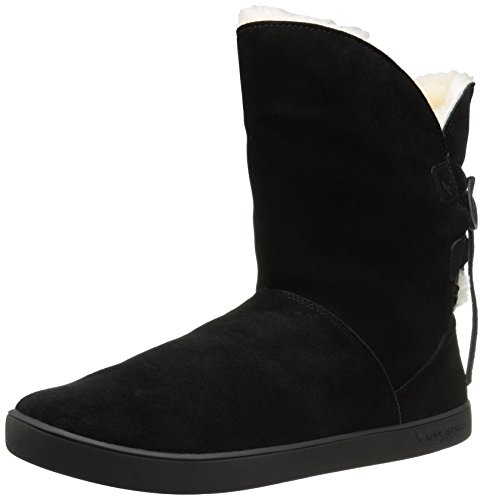 Koolaburra by UGG Women's Shazi Short Fashion Boot, Black, 10 M US