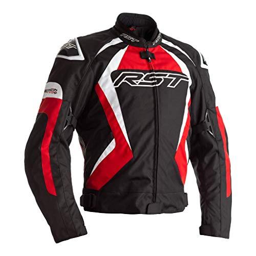 RST Tractech Evo 4 CE Chaqueta de moto textil negro rojo para hombre EU52