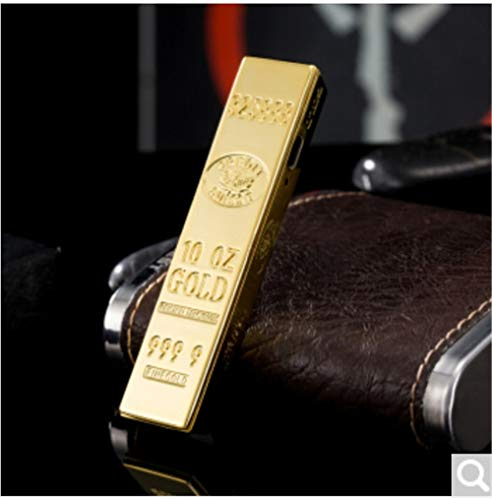 baijuxing USB-Ladefeuerzeug Winddicht Persönlichkeit Goldbarren Multi-Funktions-elektronische Feuerzeug Metall zu Freund senden