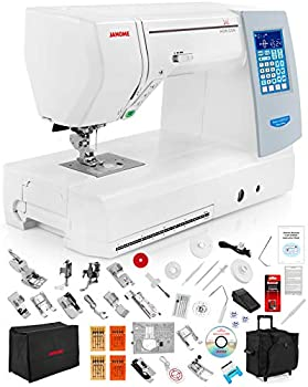 Janome Memory Craft Horizon 8200 QCP Special Edition Computerized Sewing Machine w/Black Roller Accessory Trolley Case + Semi-Hard Cover + Much More!