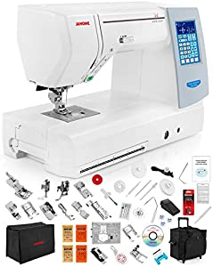 Janome Memory Craft Horizon 8900 QCP Special Edition Computerized Sewing Machine w/Extension Table + Trolley + Semi-Hard Cover + Cloth Guide + Much More!