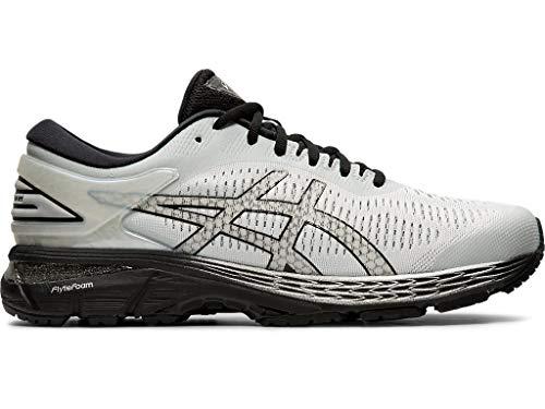 ASICS Men's Gel-Kayano 25 Running Shoes, 10.5XW, Glacier Grey/Black