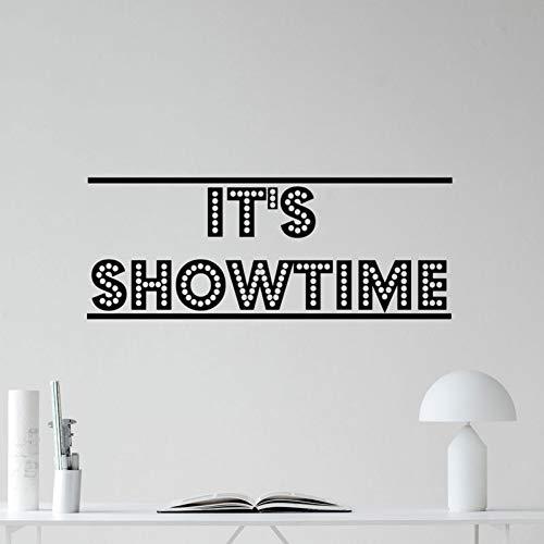 GUDOJK Muursticker Het Toon Tijd Cinema Home Theater Film Muursticker l Sticker Decor s e Waterdichte Merk Muurschilderingen Behang Woonkamer slaapkamer decoratie