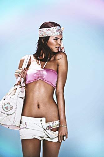 WOAIC Kendall Jenner Bikini Poster for Bar Cafe Home Decor Painting Wall Sticker Frameless 24X36 Inch(60X90CM)