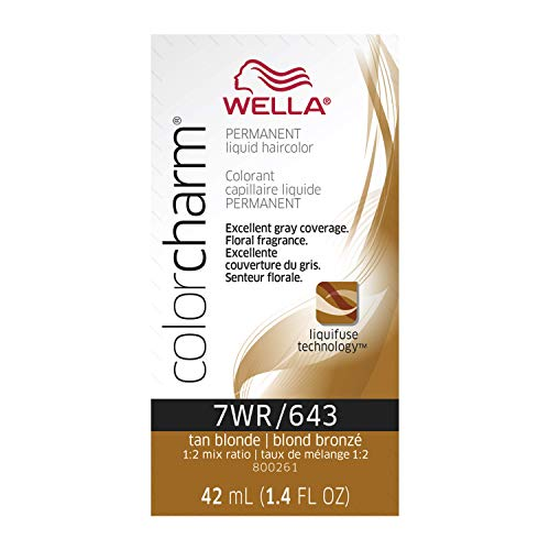 Wella Liquid Permanent Hair Color, 643/7wr Tan Blonde