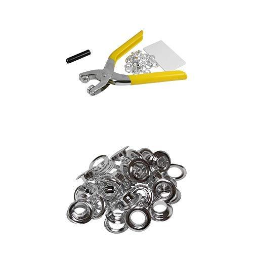 【セット買い】SK11 両面ハトメパンチ ハトメ穴径8.0mm 両面ハトメの玉 30組 本体900用 セット