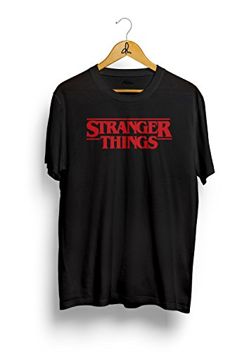Stranger Things T-Shirt(Small, Black, Solid)