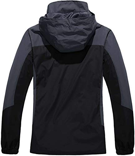 TACVASEN Women's Lightweight Waterproof Softshell Jacket Raincoat with Detachable Hood 3