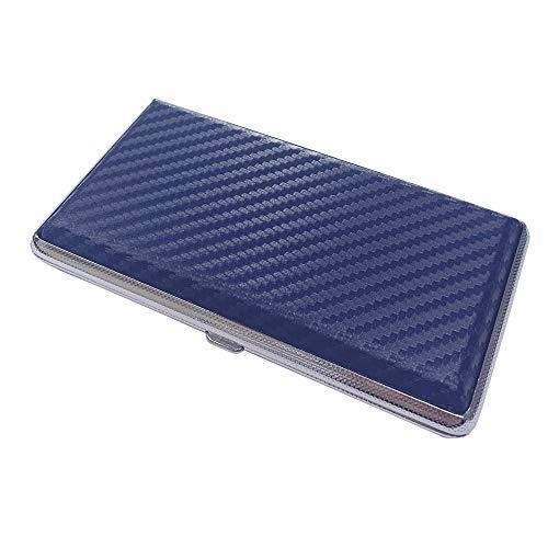 プルームテック ケース (カーボンネイビー) ハードケース PU レザー Ploom TECH PloomTECH ケース カバー スリム コンパクト シンプル 無地 合皮 電子タバコ 保護 収納 ホルダー キャリングケース