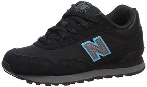 New Balance Kid's 515 V1 Lace-Up Sneaker, Black/Bayside, 11.5 W US Little Kid